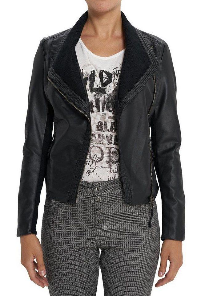 Vestino Biker-Jacke in schwarz