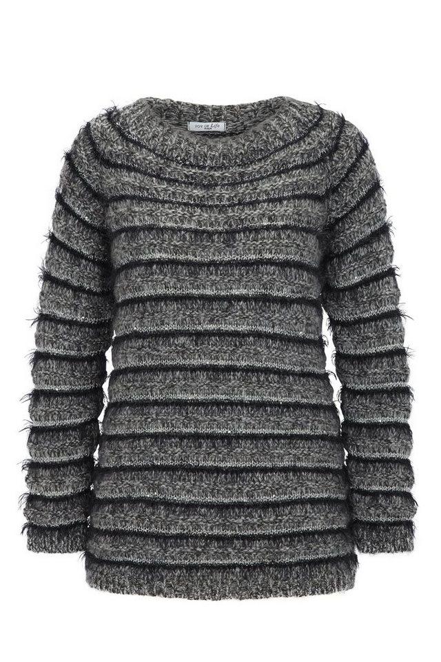 Hajo Pullover Raglan in graumelange