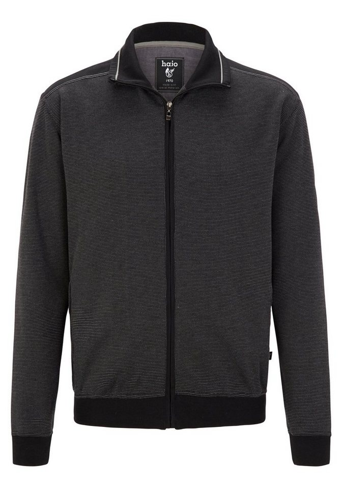 "Hajo Sweatjacke ""Stay Fresh"" in schwarz"