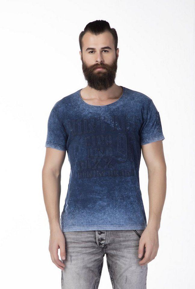 Cipo & Baxx Herren T-Shirt in Blau