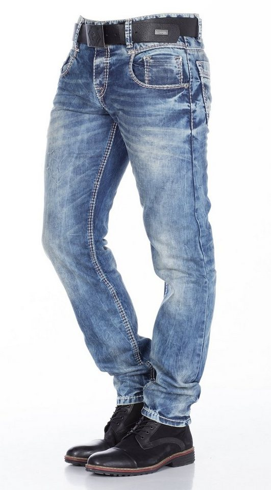 Cipo & Baxx Herren Jeans Hose in JEANS HELLBLAU