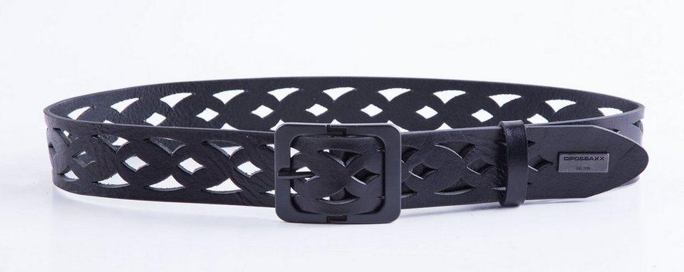 Cipo & Baxx Gürtel in schwarz
