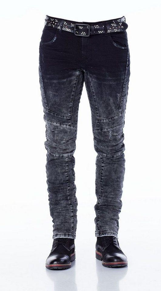 Cipo & Baxx Jeans Hose in DUNKELGRAU