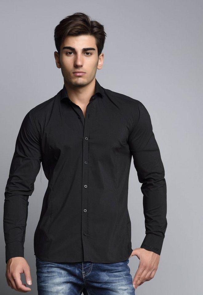 Cipo & Baxx Hemd in schwarz