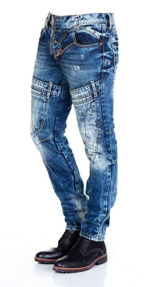 Cipo & Baxx Jeans Hose in DUNKELBLAU