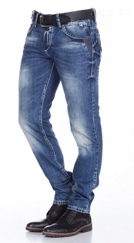 Cipo & Baxx Herren Jeans Hose in JEANSBLAU