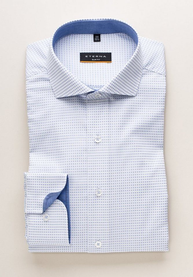 ETERNA Langarm Hemd »SLIM FIT« in blau