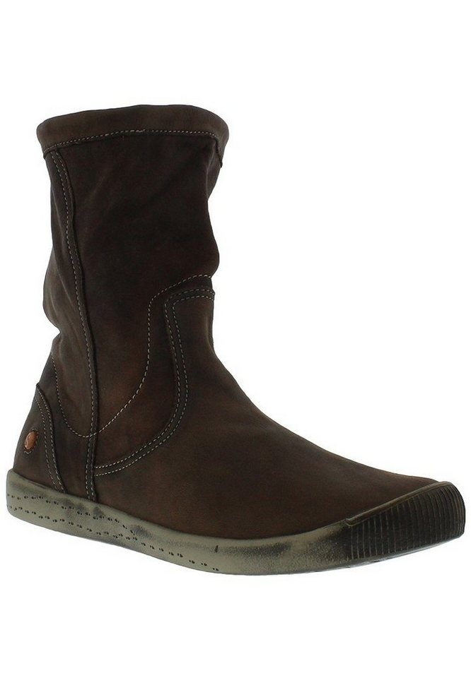 softinos Stiefelette »Softinos IGGY TOP washed leather HW16« in braun