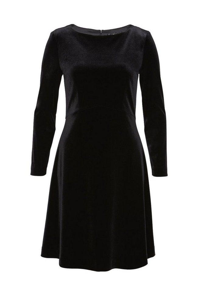 HALLHUBER Samtkleid mit ausgestelltem Cut in schwarz