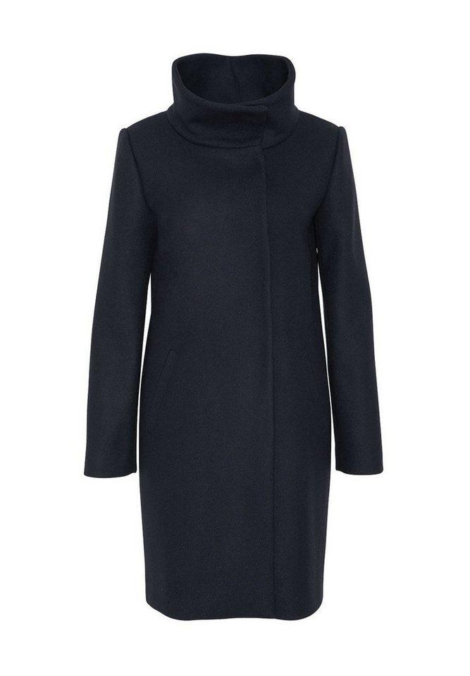 HALLHUBER Mantel mit Stehkragen in dunkelblau