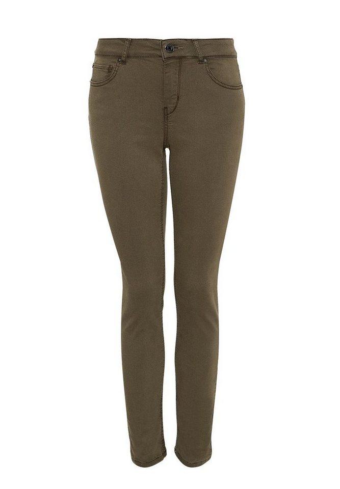 HALLHUBER Skinny Jeans in Antik-Dye in oliv