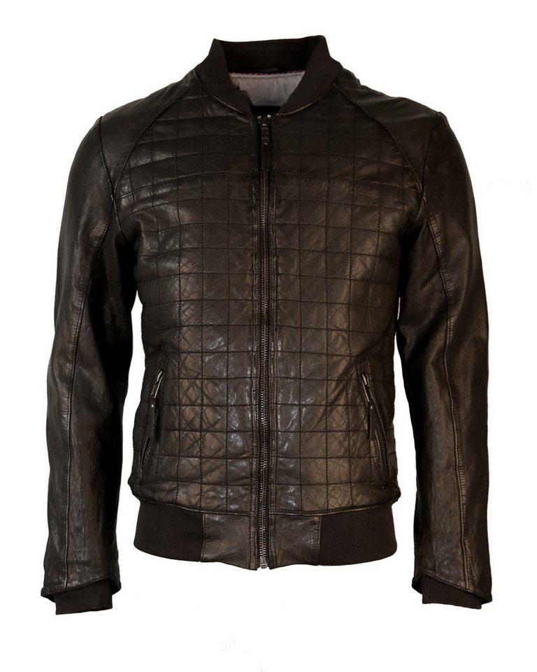 TOM TAILOR Lederblouson, Herren TT 6070012 in black