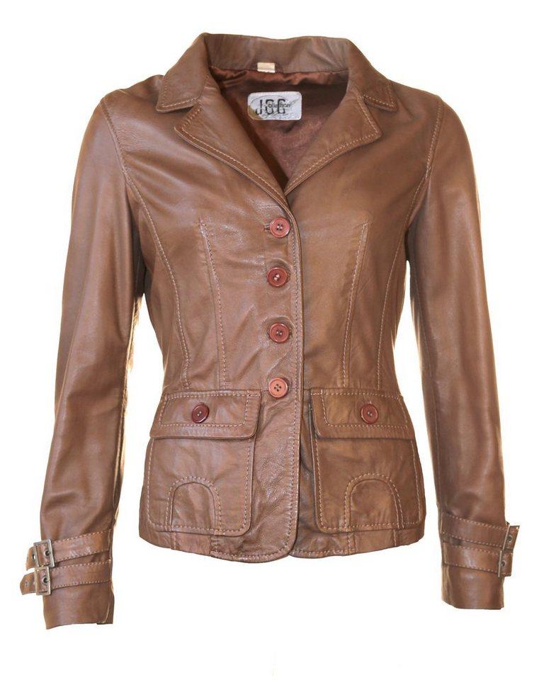 JCC Lederblazer, Damen Darin in brown