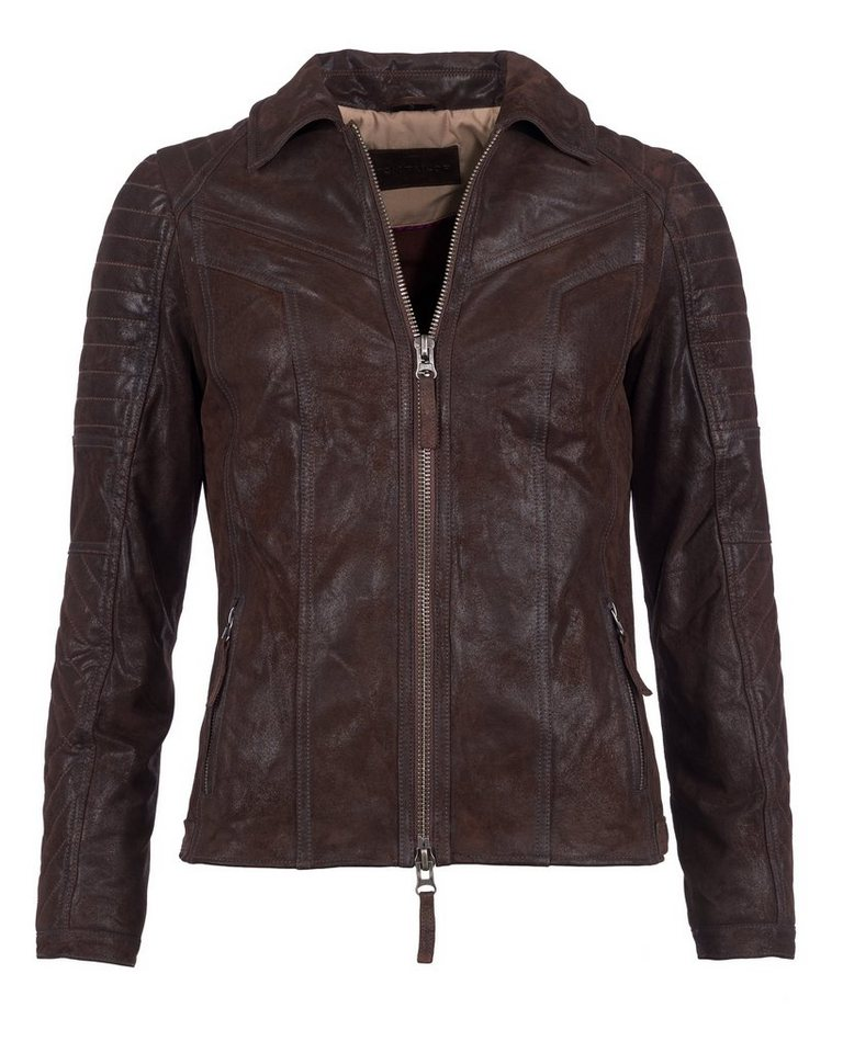 TOM TAILOR Lederjacke, Damen 16-25 in braun