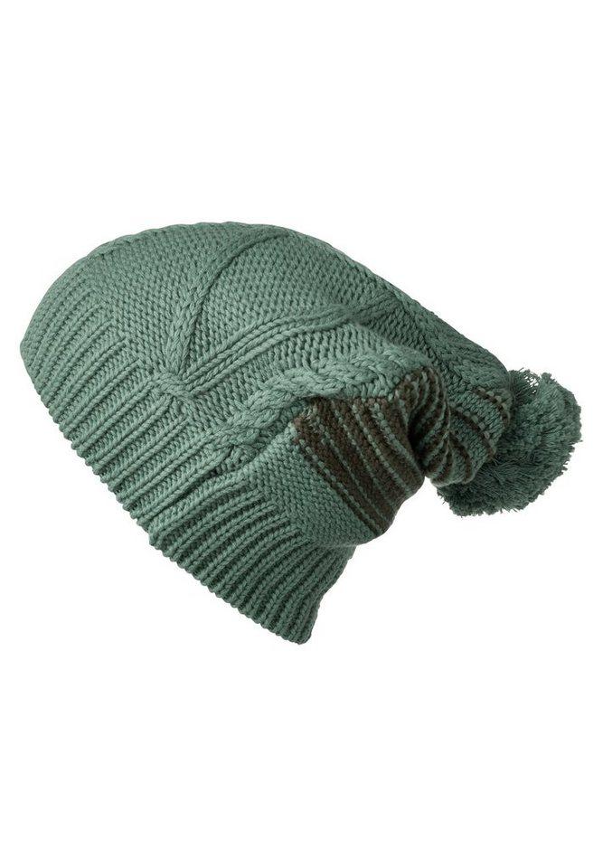 CECIL Strickmütze aus Baumwolle in loden frost green