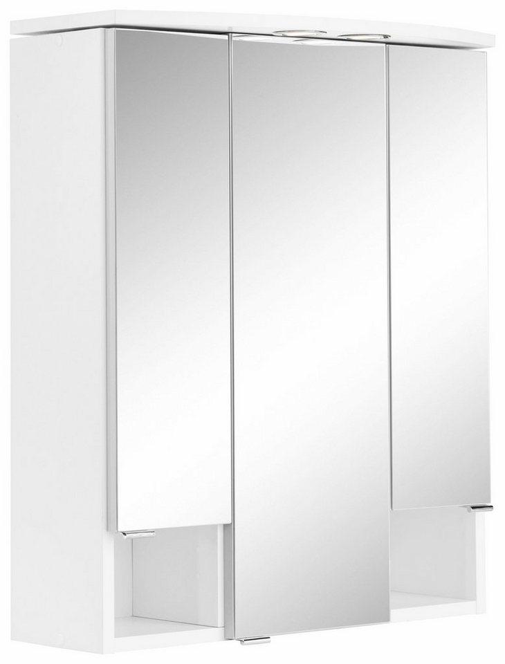 Held Möbel Spiegelschrank »Sidney« mit LED Beleuchtung in weiß