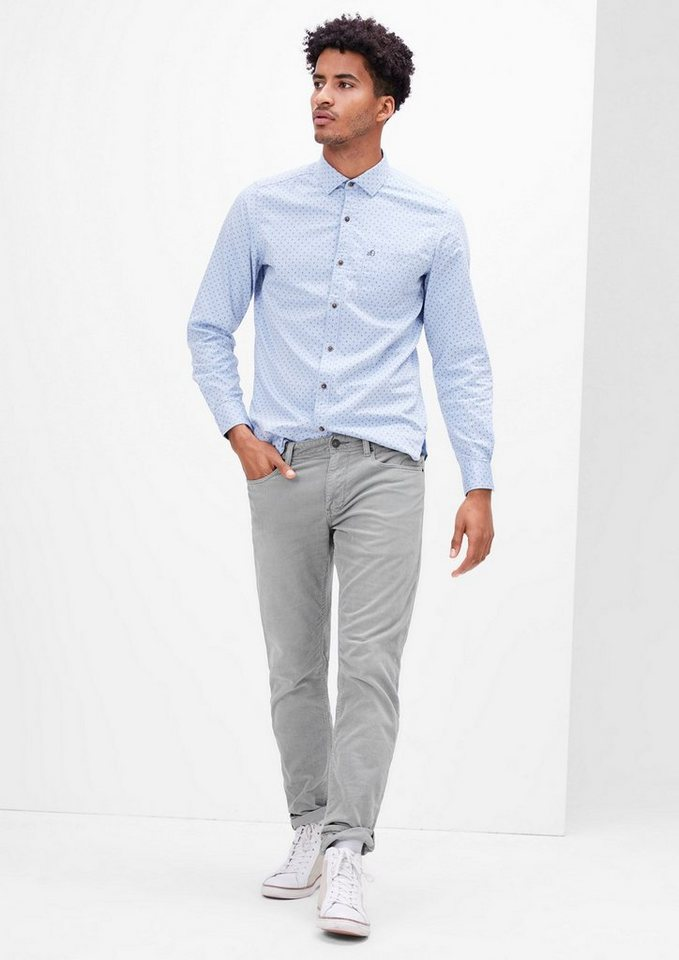 s.Oliver RED LABEL Close Slim: Stretchige Cordhose in cloud grey