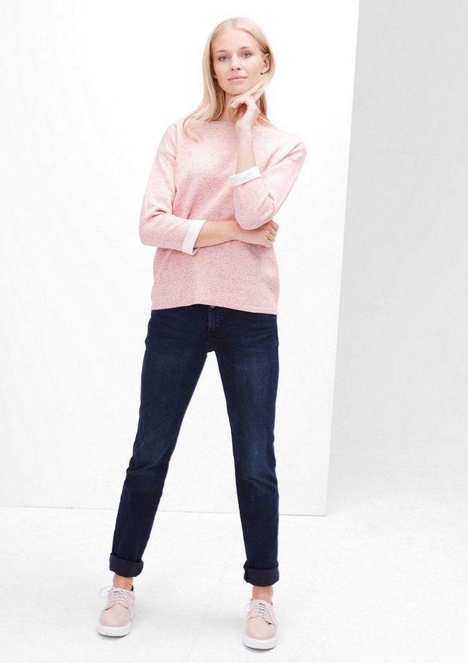 s.Oliver RED LABEL Pullover mit Kontrast-Bündchen in rosewood knit
