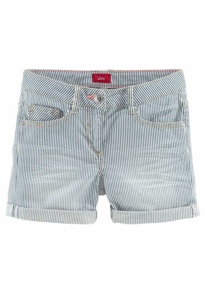 s.Oliver RED LABEL Junior Shorts in blau-weiß-gestreift