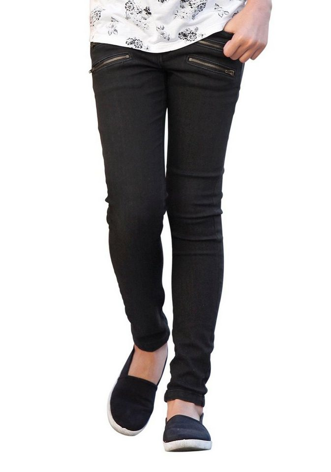 Buffalo Stretch-Jeans super skinny in black-washed