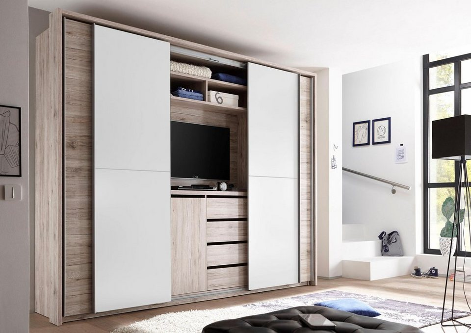 schwebet renschrank mit tv fach online kaufen otto. Black Bedroom Furniture Sets. Home Design Ideas