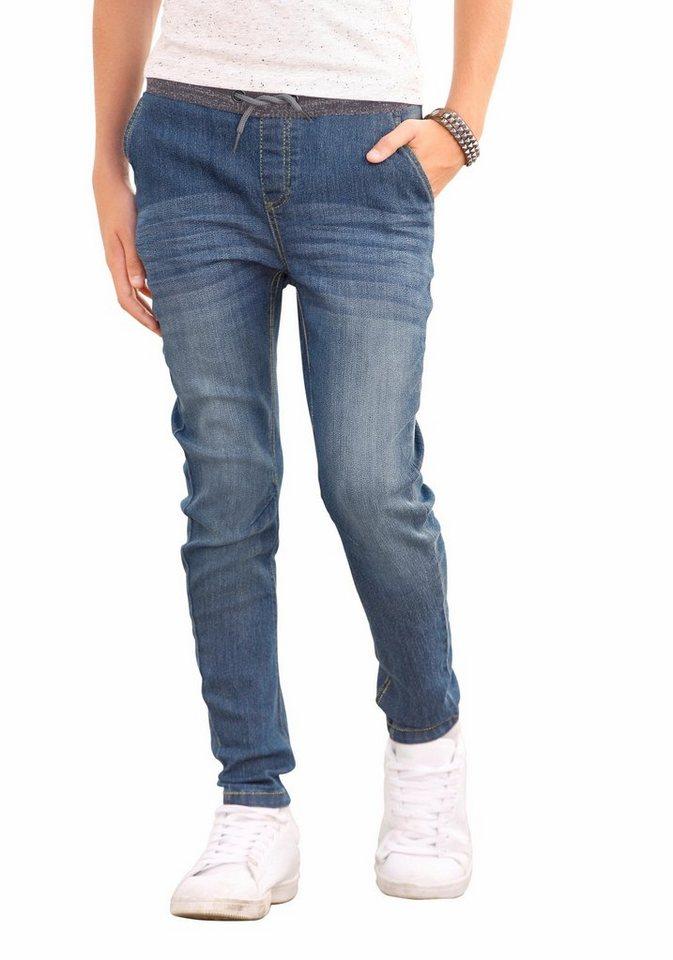 "Arizona Stretch-Jeans in Schlupfform, ""O""-shape Style in mid-blue"