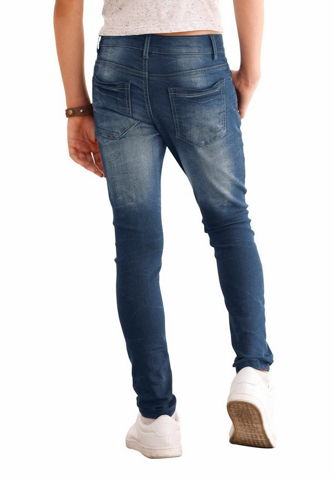 Arizona Stretch-Jeans Skinny-fit mit extra schmalem Bein in blue-used