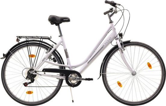 FASHION LINE Cityrad, 6 Gang Shimano TZ 50 Schaltwerk, Kettenschaltung