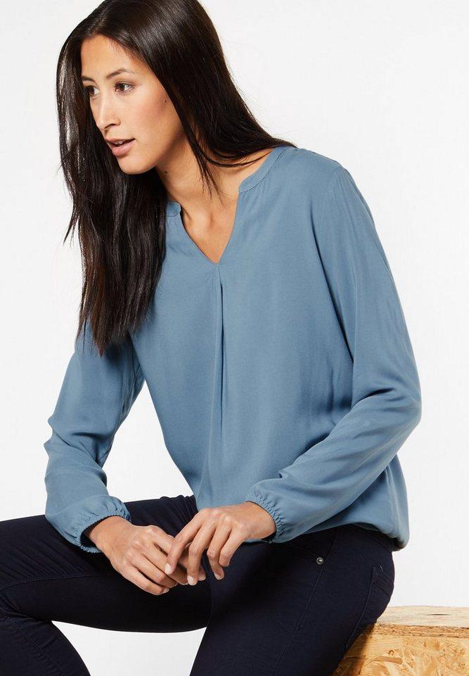 Street One Bluse mit Gummibund Idwina in sterling blue