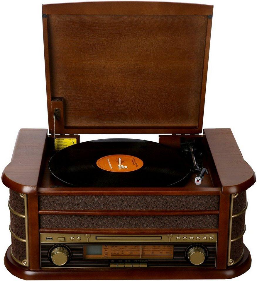 denver radio retro musik center mit plattenspieler mcr 50. Black Bedroom Furniture Sets. Home Design Ideas