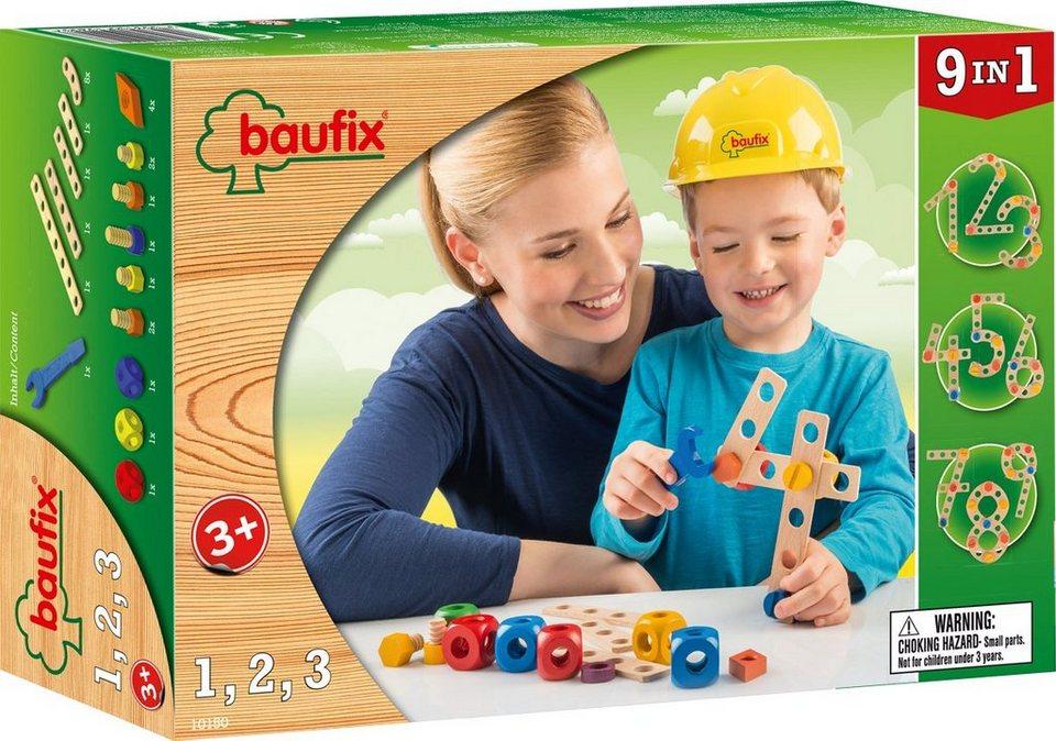 Baufix Holz Bauset, »Baufix 1 2 3«