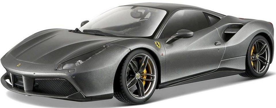 Bburago® Modellauto im Maßstab 1:18, »Ferrari 488 GTB, dunkelgrau« in grau
