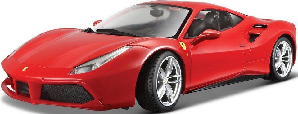 Bburago® Modellauto im Maßstab 1:18, »Ferrari 488 GTB, rot« in rot