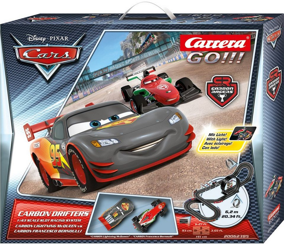 Carrera Autorennbahn, »Carrera® GO!!! Disney/Pixar, Carbon Drifters«