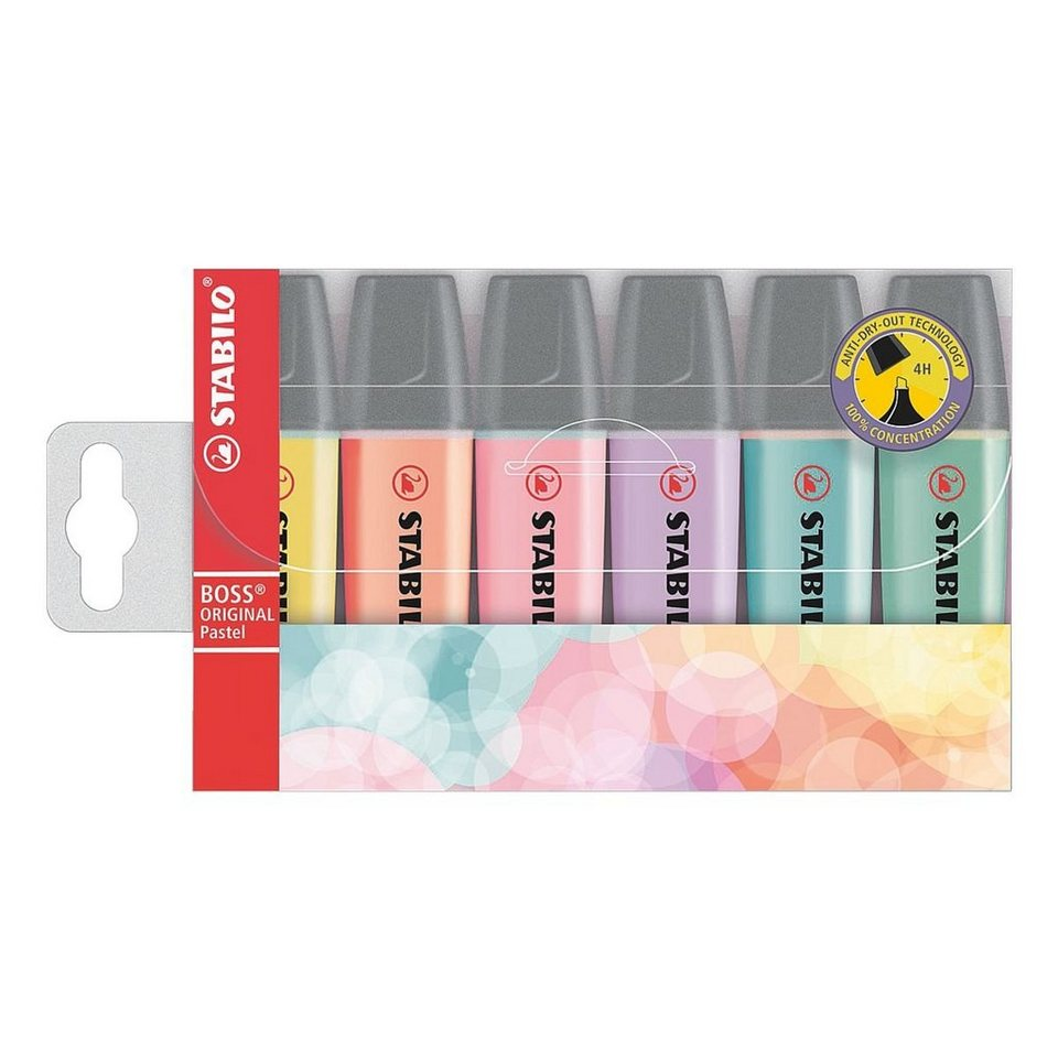 Stabilo 6er-Pack Textmarker »BOSS® Original« Pastell