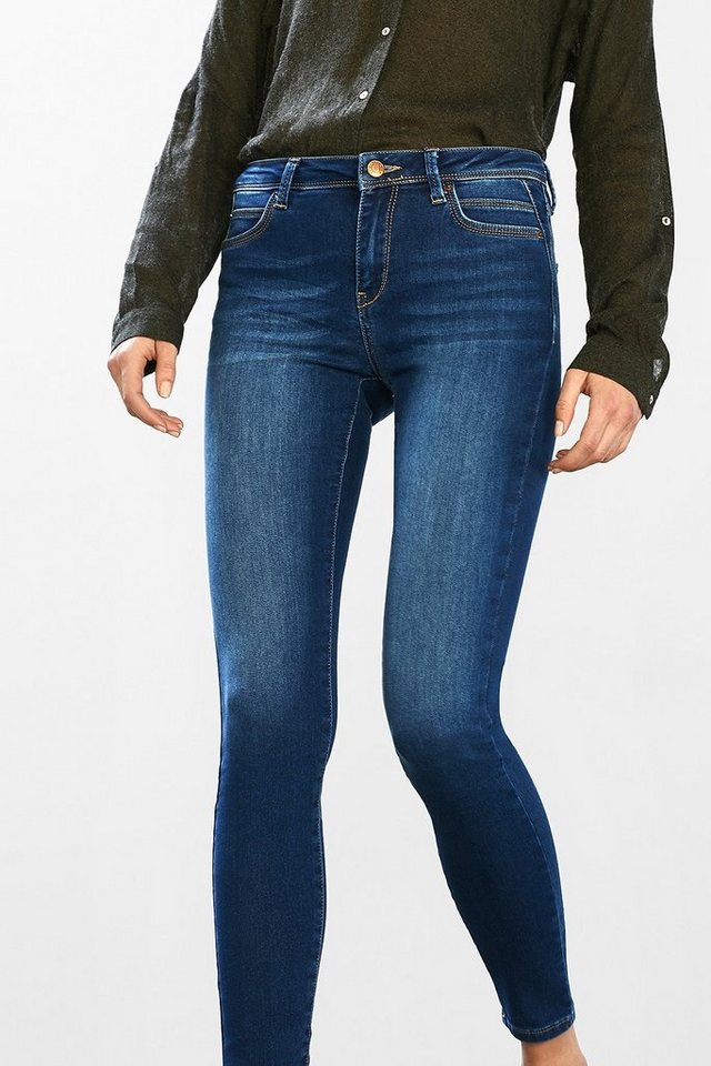 ESPRIT CASUAL Baumwoll-Stretch Fashion Denim in BLUE MEDIUM WASHED