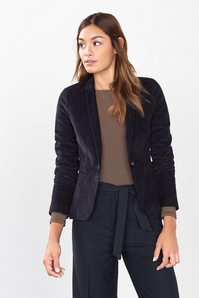 ESPRIT CASUAL Feincord-Blazer aus Baumwolle/Stretch in NAVY