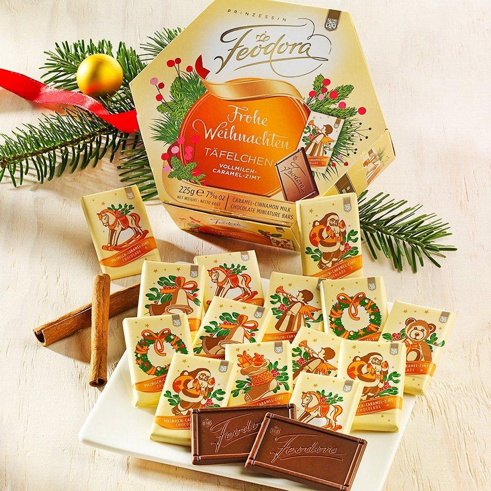 Feodora Feodora Schokolade Weihnachts-Täfelchen Caramel-Zimt