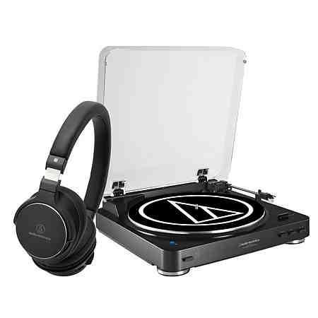 Audio-Technica Set: Bluetooth-Plattenspieler und High-Res Kopfhörer »AT-LP60BT und AT-SR5BT«