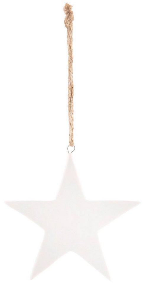 Deko-Hänger 6-teilig, »Stern« in weiß