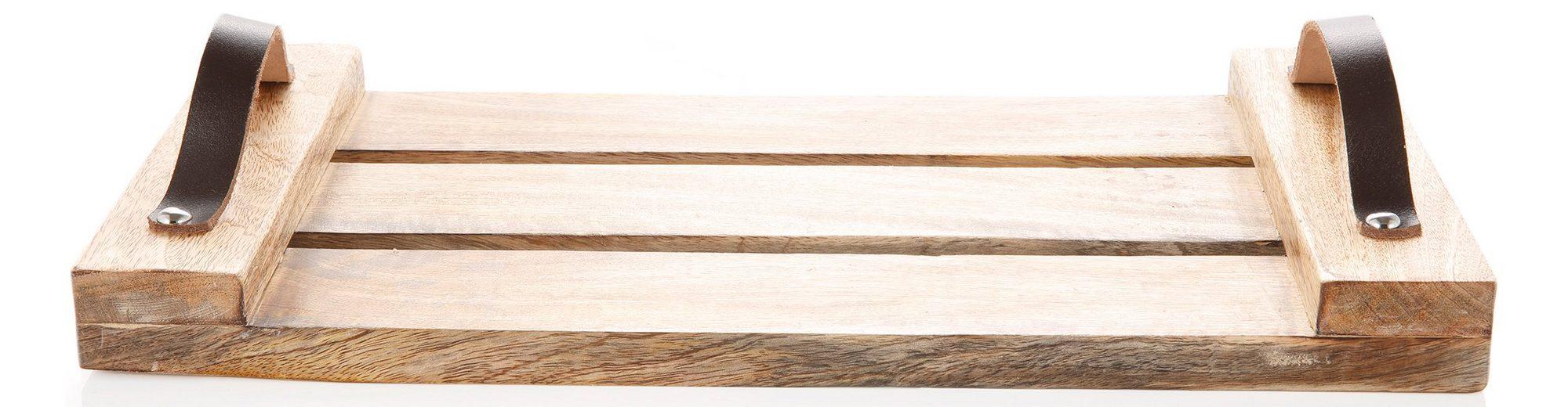 Deko-Tablett aus Holz