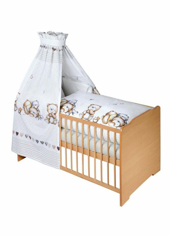 julius z llner 7 tlg komplettbett babybett matratze. Black Bedroom Furniture Sets. Home Design Ideas