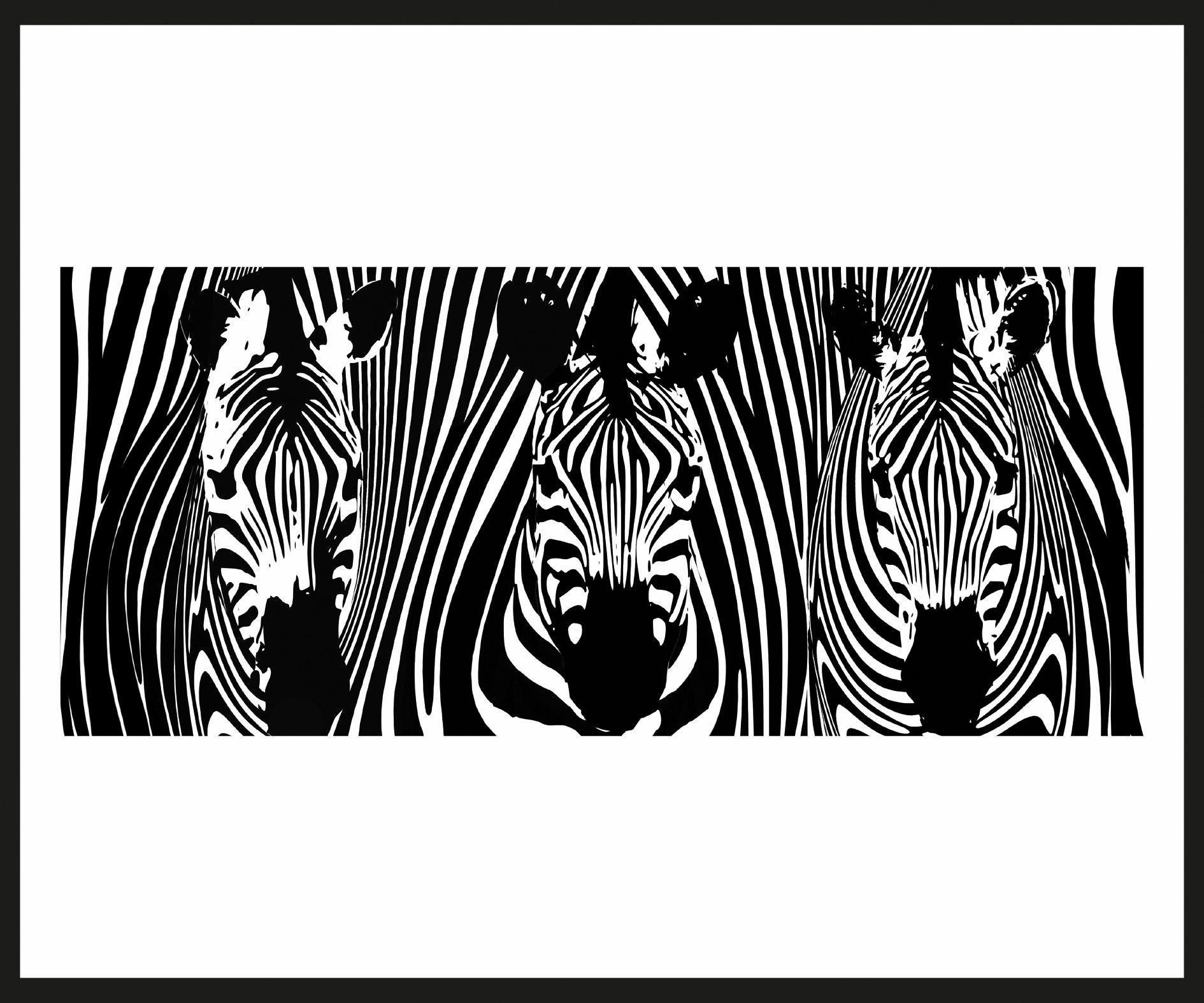 Home affaire Rahmenbild »Drei Zebras«, 60/50 cm