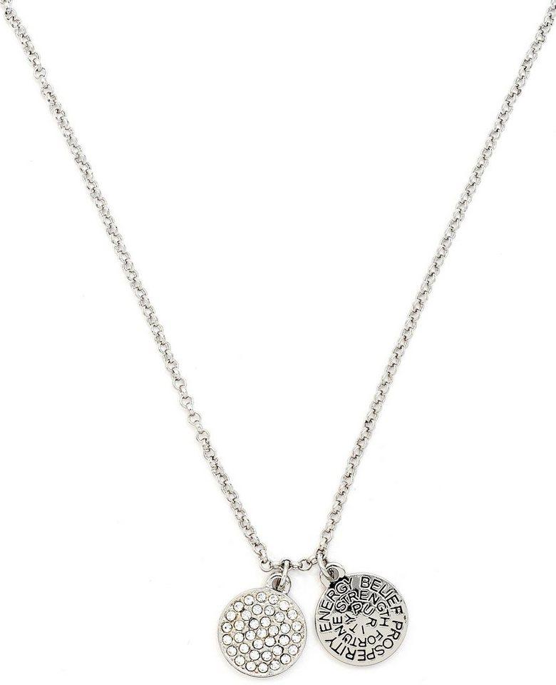 Chrysalis Kette mit Anhänger »GOOD FORTUNE - Diamant, CRNT0104SP« mit Swarovski-Kristallen in silberfarben