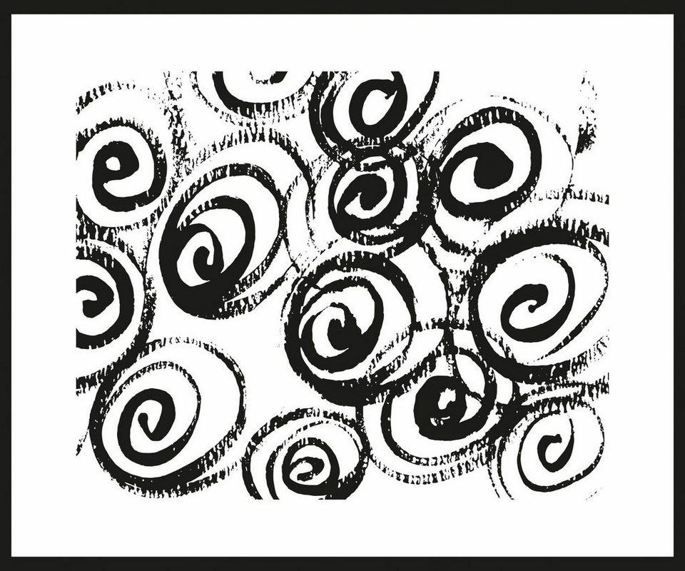 Home affaire Rahmenbild »Kreative Kreise«, 60/50 cm in weiß/schwarz