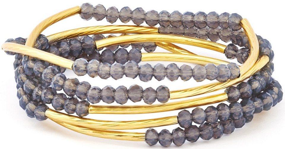 Chrysalis Wickelarmband »FRIENDSHIP - Kreativität, CRWF0001GP-E« auch als Halskette tragbar, mit Glassteinen in goldfarben-lila