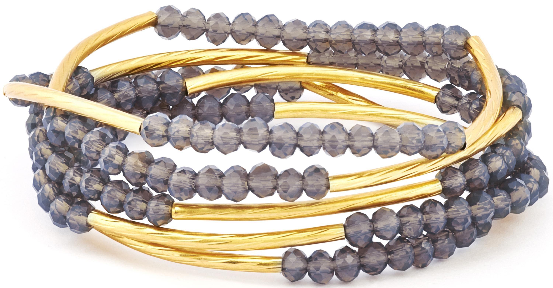 Chrysalis Wickelarmband »FRIENDSHIP - Kreativität, CRWF0001GP-E« auch als Halskette tragbar, mit Glassteinen