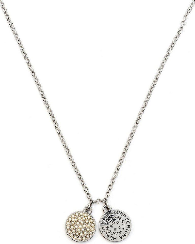 Chrysalis Kette mit Anhänger »GOOD FORTUNE - Glas Perlen, CRNT0106SP« mit Swarovski-Glasperlen in silberfarben-weiß