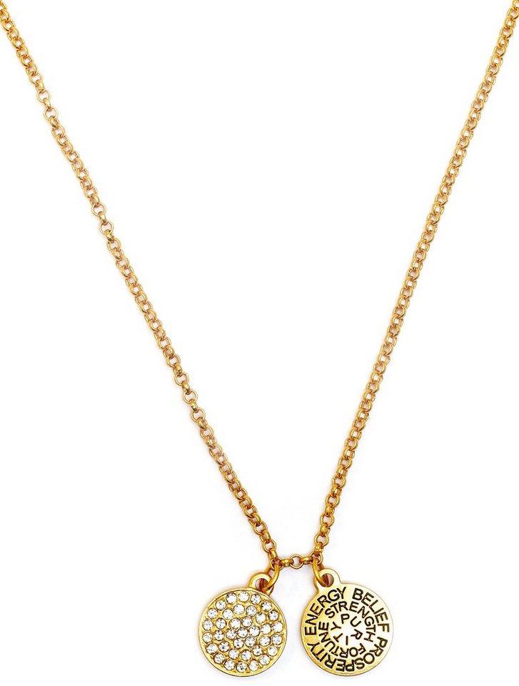 Chrysalis Kette mit Anhänger »GOOD FORTUNE - Diamant, CRNT0104GP« mit Swarovski-Kristallen in goldfarben