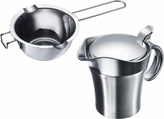 WESTMARK Küchenhelfer-Set, (Set, 2-tlg), Thermo-Sauciere, Butter-/Schokoladenpfännchen